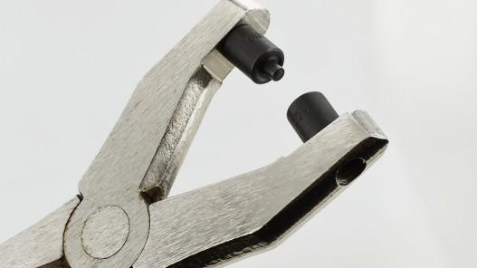 Pince pose œillet avec embouts interchangeables qualité pro - Cuir en Stock