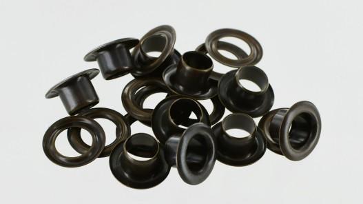 Œillets finition bronze 11 mm maroquinerie - Cuir en Stock