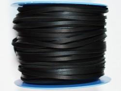 Lacet de cuir carré 3.5 mm noir vendu au mètre - Premier choix - Cuir en Stock