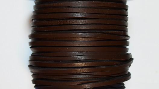 Lacet de cuir carré 3.5 mm vendu au mètre top qualité - Cuir en Stock