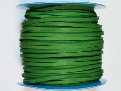 Lacet de cuir carré vert vendu au mètre - Cuir en Stock