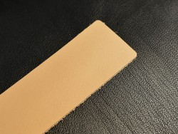 Anse cuir tannage végétal 35 mm de largeur - Cuir en Stock