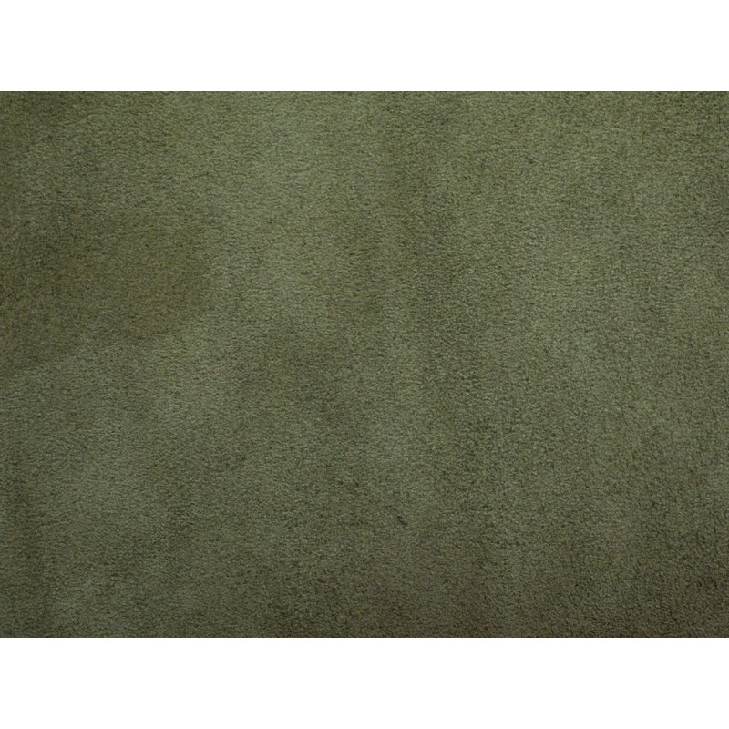 Morceau de cuir de veau velours vert kaki - Cuir en Stock