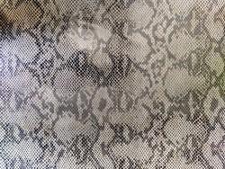 Morceau de cuir de vache grain serpent gris