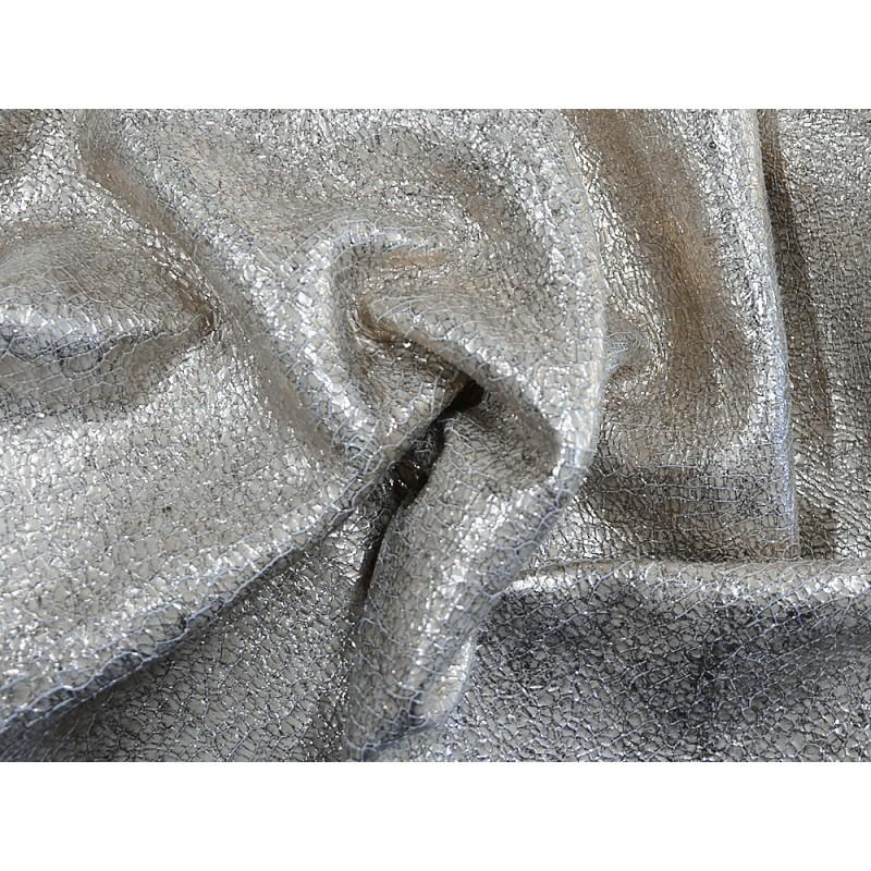 Cuir de chèvre métallisé craquelé light gold maroquinerie Cuir en Stock