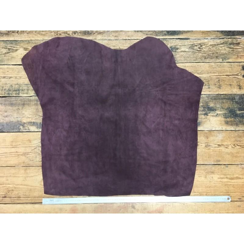 Peau de veau velours prune maroquinerie vêtement Cuir en Stock