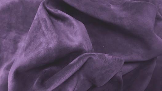 Peau de veau velours prune maroquinerie vêtement Cuirenstock