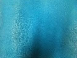 Morceau de cuir de vache bleu paon