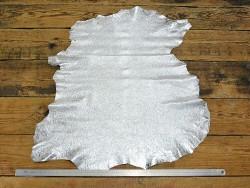 Peau de mouton métallisé crispy silver Cuir en stock