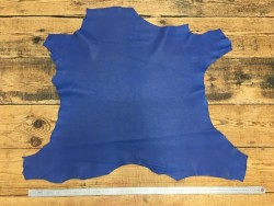 Peau de cuir de veau bleu classique maroquinerie vêtement Cuir en Stock