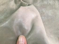 Cuir de buffle naturel greige nuancé Cuir en stock
