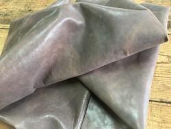 Tannage souple cuir de buffle taupe finition naturelle végétal cuirenstock