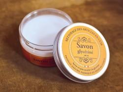 Boite de 100 ml de savon glycériné sans solvants Trimadel - entretien du cuir - Cuirenstock