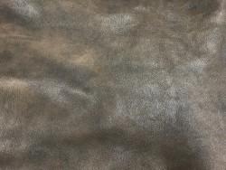 Cuir de caractère chèvre antique nuance brun Cuir en Stock