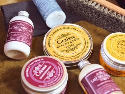 Lait nettoyant Trimadel pour cuir - fabrication artisanale française - Cuirenstock