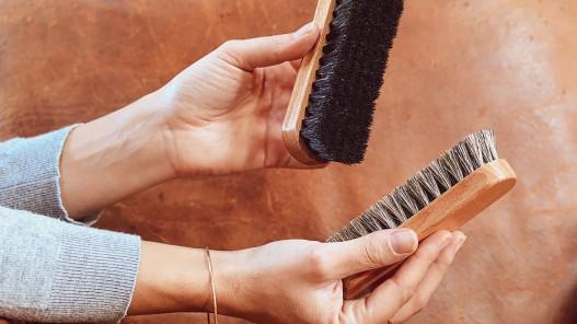 Brosses à reluire entretien du cuir - Cuirenstock