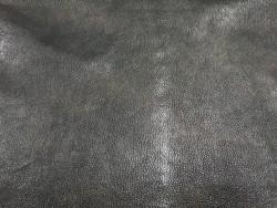 Cuir vintage antique choco gris Cuir en Stock