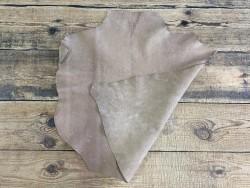 Endroit envers peau de cuir de chèvre nubuck naturel tannage végétal Cuirenstock