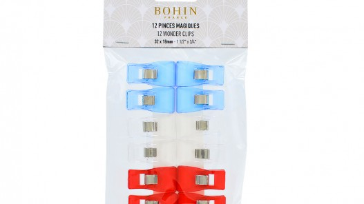Lot 12 pinces clip magiques Bohin - Cuir en Stock