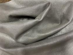 cuir pailleté gris argent métallisé cuir en stock
