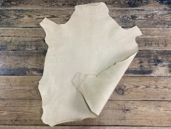 Peau de cuir d'agneau végétal basane grain cordoue Cuir en stock