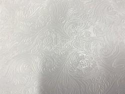 Cuir grain cordoue fleuri blanc maroquinerie Cuir en stock