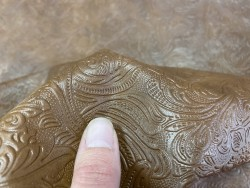 Cuir imprimée fleuri maroquinerie ameublement Cuirenstock