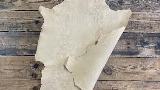 Recto verso peau de cuir d'agneau végétal naturel Cuirenstock