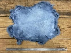 Peau lapin en poil fourrure bleu denim Cuirenstock