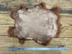 Peau lapin en poil fourrure roux auburn Cuirenstock