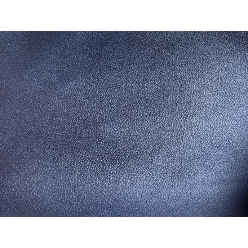 Cuir de veau grainé bleu nuit maroquinerie luxe Cuir en Stock