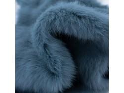 Peau lapin en poil fourrure bleu denim Cuir en Stock