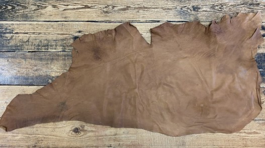 Peau de cuir de buffle naturel brun Cuir en stock