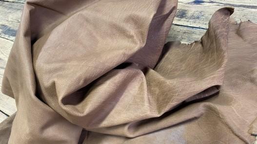 Souplesse peau de cuir de buffle naturel brun cuir en stock