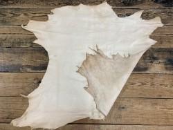 Endroit envers peau de cuir de veau naturel végétal cuir en stock