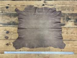 Peau de cuir d'agneau métallisé nacré brun doré maroquinerie cuir en stock