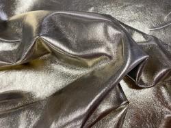 Peau métallisé or gold lisse maroquinerie accessoire Cuir en Stock