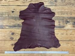 Peau de cuir de chèvre nappa bordeaux maroquinerie Cuir en Stock
