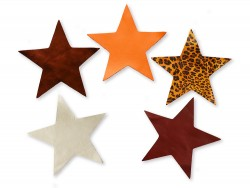 Lot surprise morceaux de cuir étoile 14 cm - Petit Prix - Cuirenstock