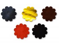 Lot surprise morceaux de cuir - Fleur Marguerite - Cuir en Stock