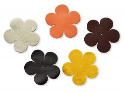 Lot surprise morceaux de cuir forme fleur 10 cm - Cuir en Stock