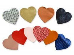 Lot surprise morceaux de cuir - forme Coeur - Cuir en Stock