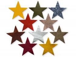Lot surprise morceaux en cuir forme étoile 10 cm - Cuir en Stock