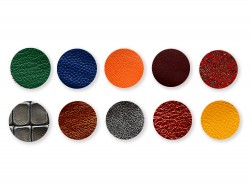 Lot pastilles sequins en cuir coloré pour créations et loisirs créatifs - Cuir en Stock