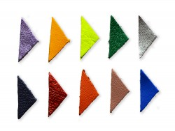 Lot surprise triangles en cuir 2x3 cm - Cuirenstock