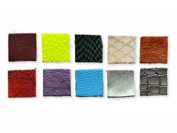 Lot surprise 10 petits carrés en cuir pour la création - Cuir en Stock