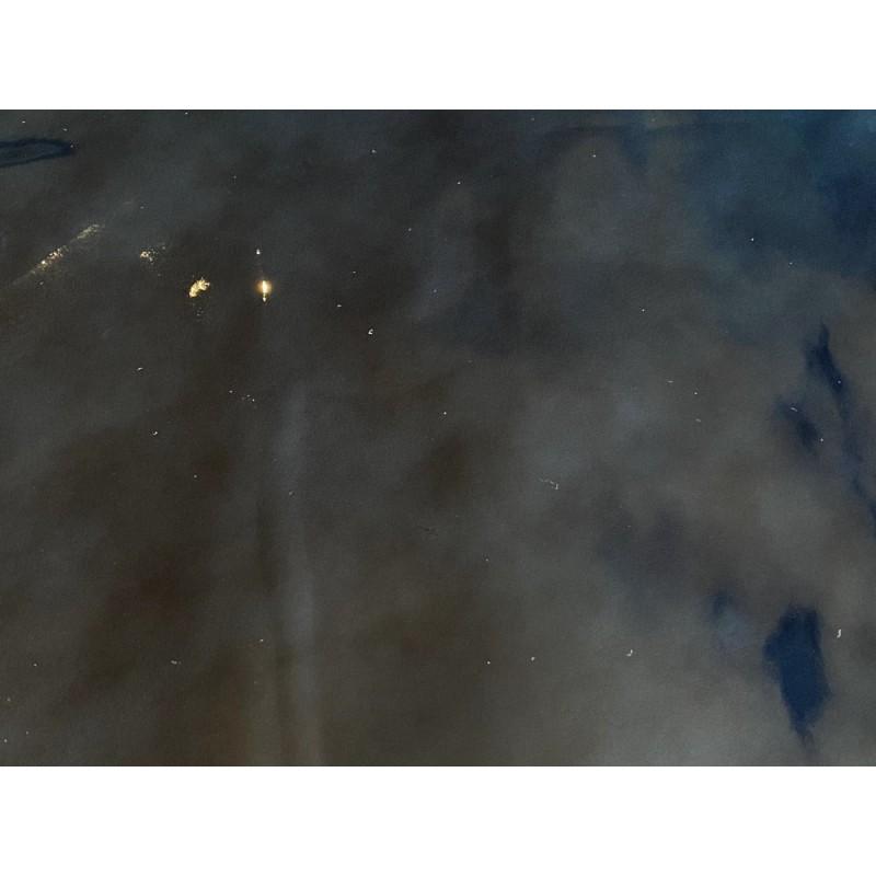 Cuir de veau vernis navy bleu marine maroquinerie Cuir en Stock