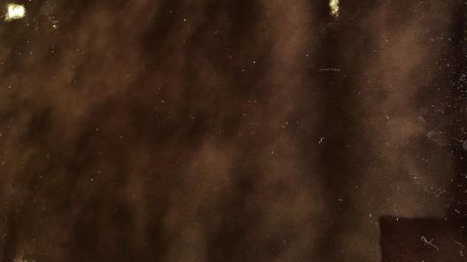 Cuir de veau vernis brillant brun chocolat Cuir en Stock