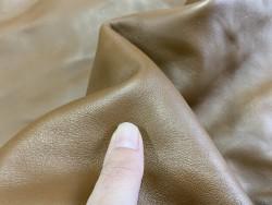 Demi-peau de cuir de veau lisse camel cuirenstock