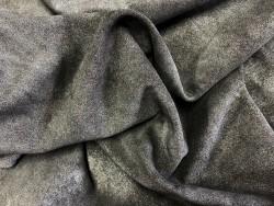 Veau velours noir métallisé argent maroquinerie Cuir en Stock